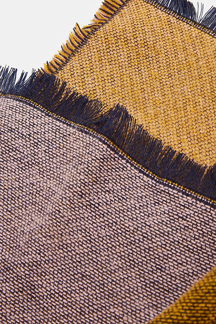 Recycelt: Schal mit Colorblocking, NAVY, detail image number 2