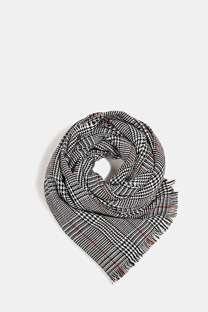 Recycelt: XL-Schal mit Glencheck, BLACK, detail image number 0