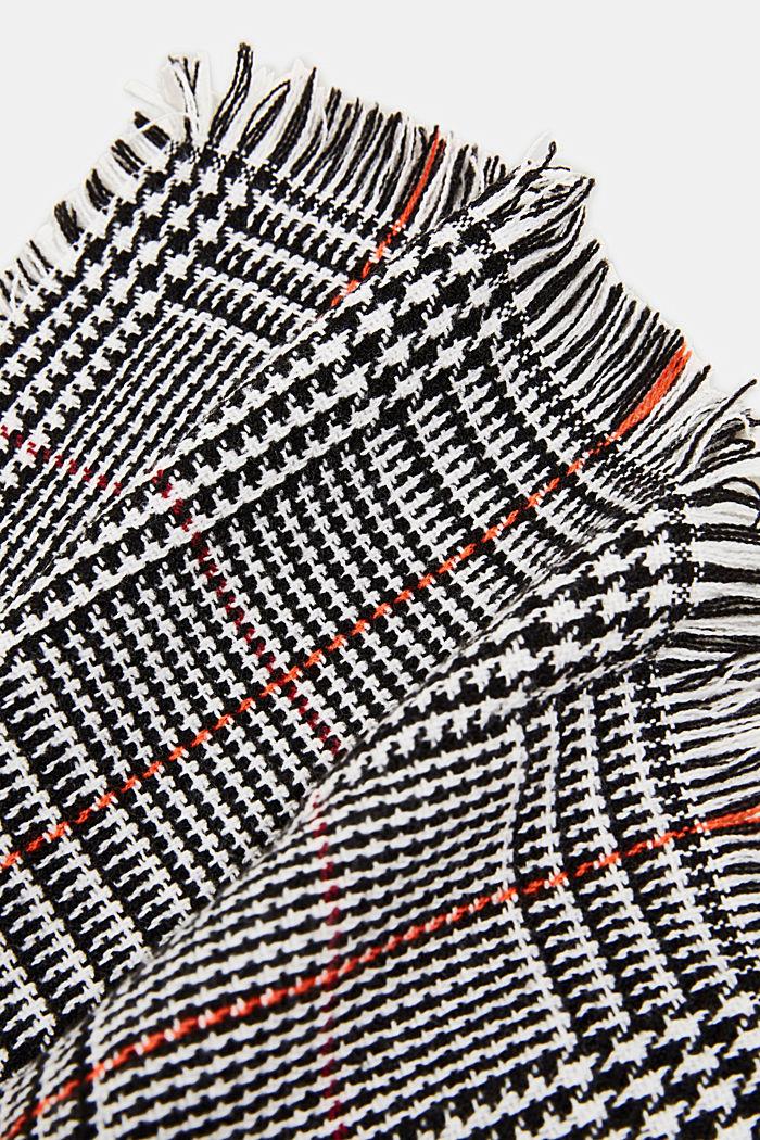 Recycelt: XL-Schal mit Glencheck, BLACK, detail image number 2