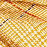 Recycled: XL scarf with a Prince of Wales design, BRASS YELLOW, swatch