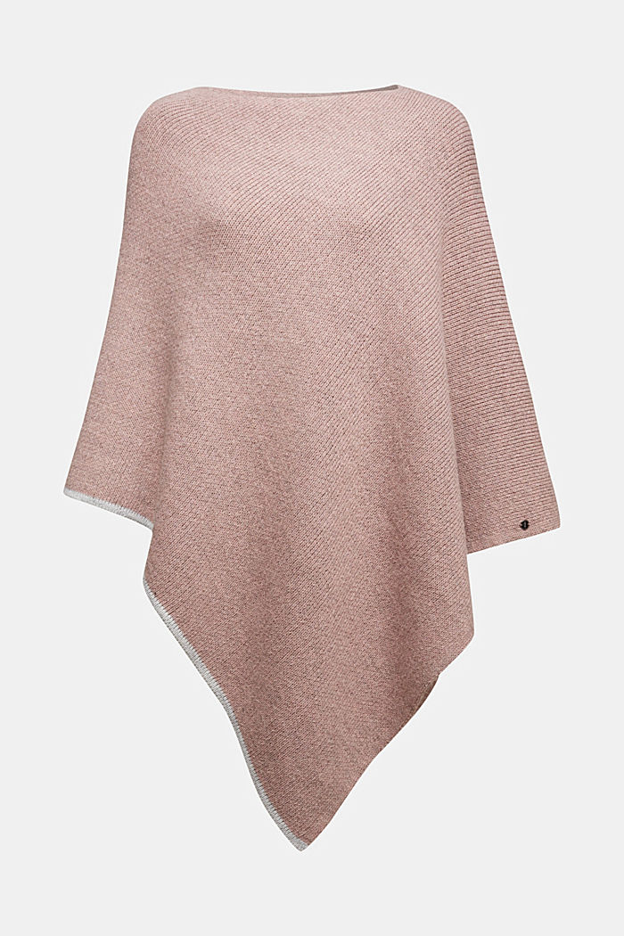 Poncho with alpaca, MAUVE, detail image number 0