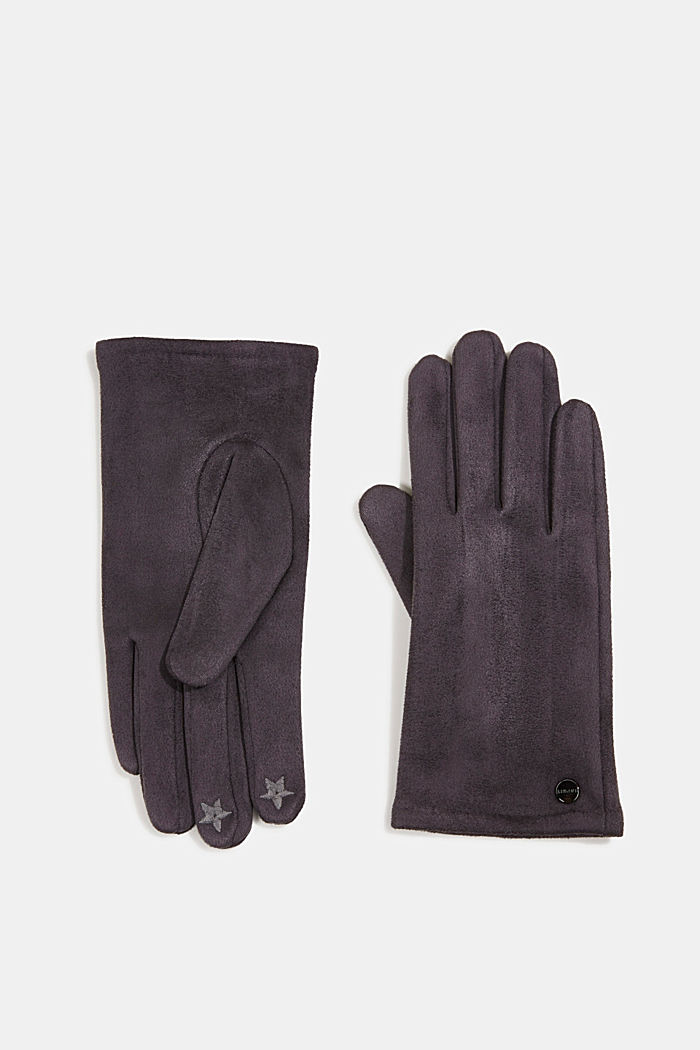 Gloves with touchscreen function, GREY, detail image number 0