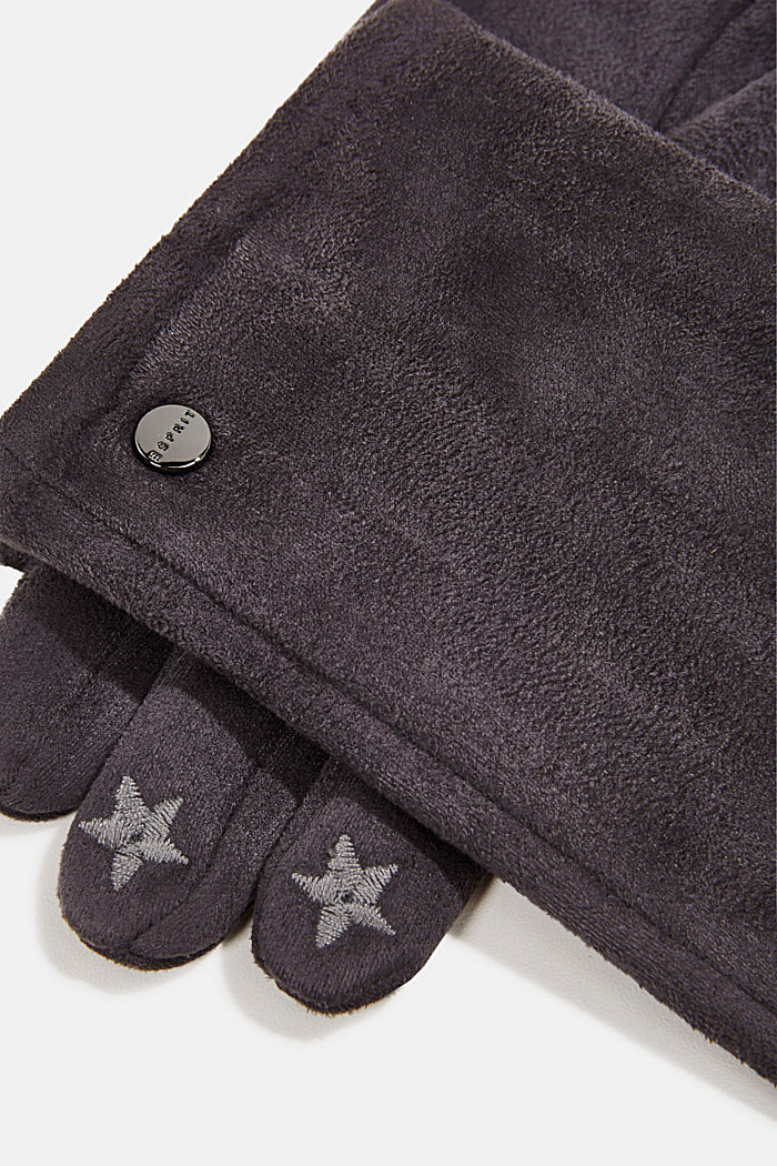 Gloves with touchscreen function, GREY, detail image number 1
