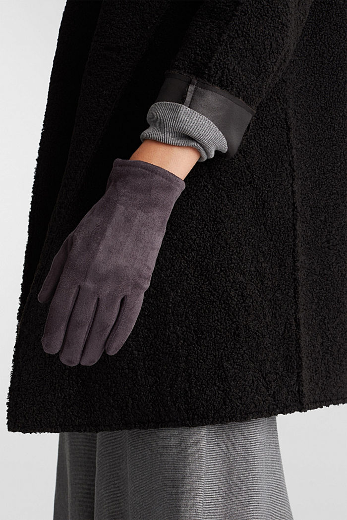 Gloves with touchscreen function, GREY, detail image number 2