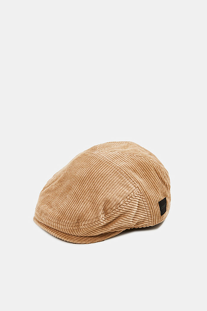 Corduroy driving cap, LIGHT BEIGE, detail image number 0