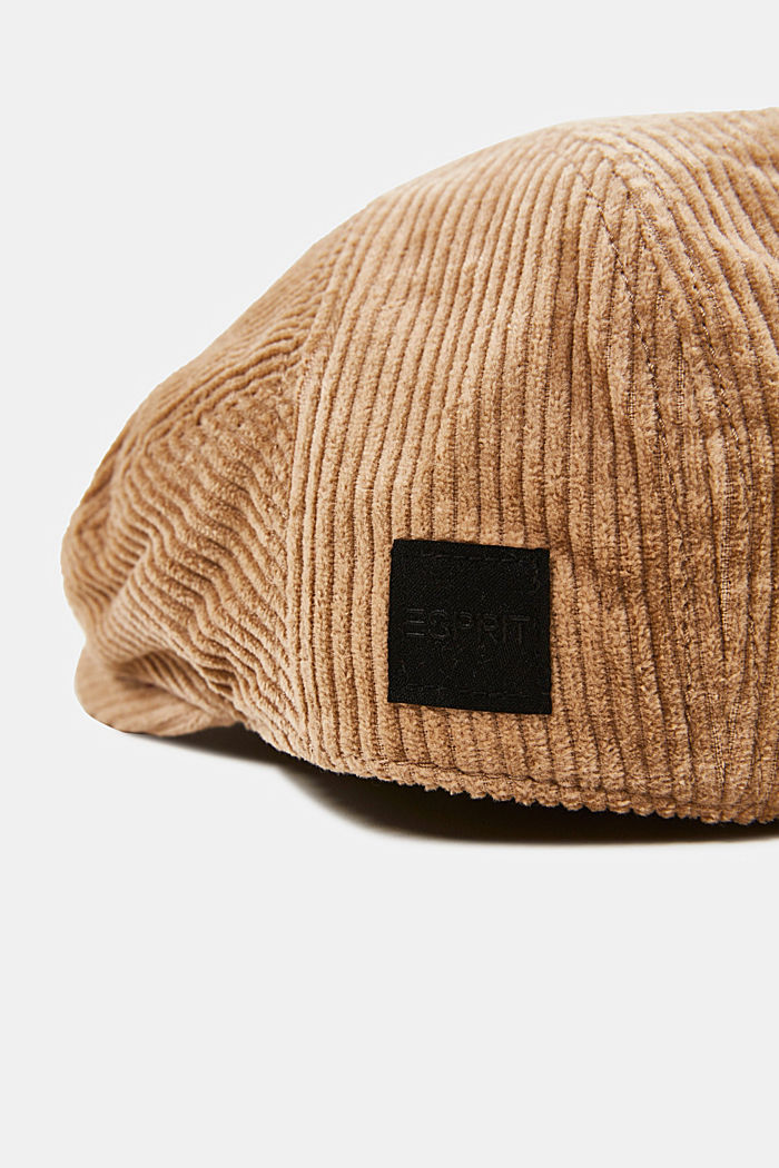Corduroy driving cap, LIGHT BEIGE, detail image number 1