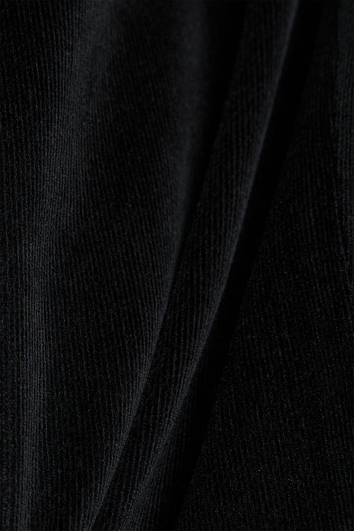 Stretch corduroy trousers, BLACK, detail image number 4