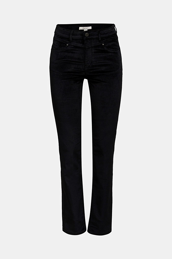 Stretch corduroy trousers, BLACK, detail image number 5