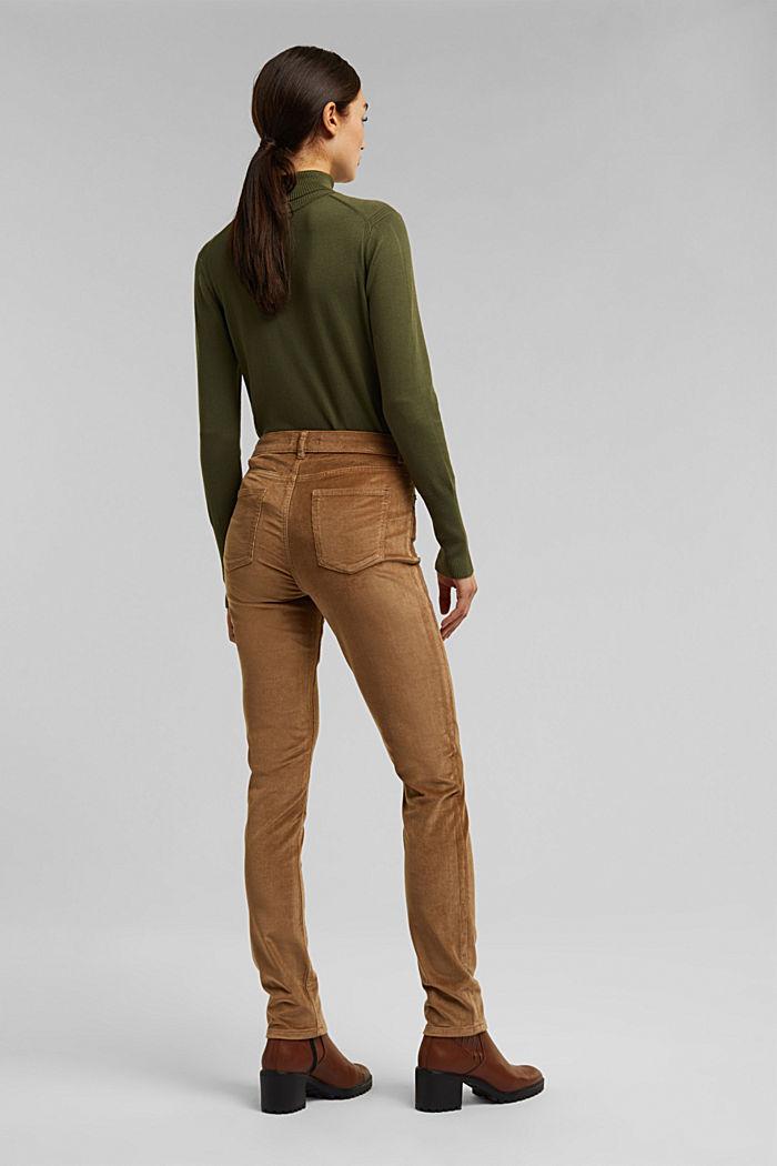 Pantalon stretch en velours côtelé, CAMEL, detail image number 3