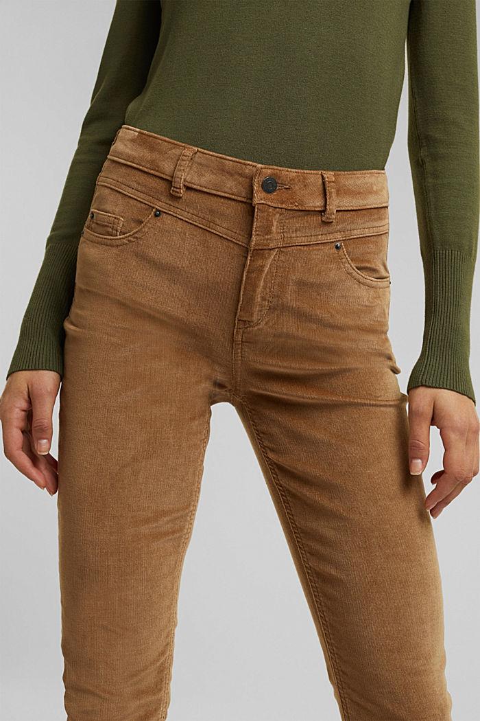 Pantalon stretch en velours côtelé, CAMEL, detail image number 2