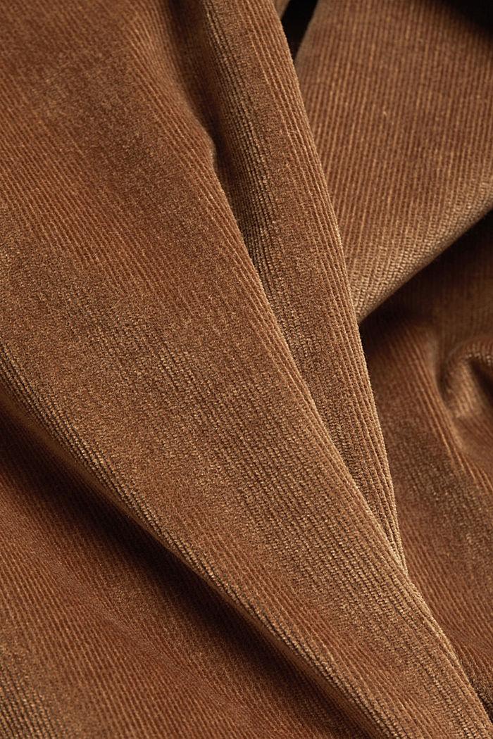 Pantalon stretch en velours côtelé, CAMEL, detail image number 4