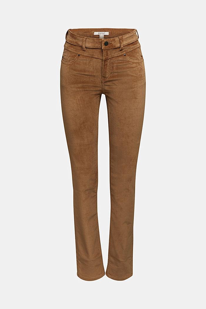 Pantalon stretch en velours côtelé, CAMEL, detail image number 5