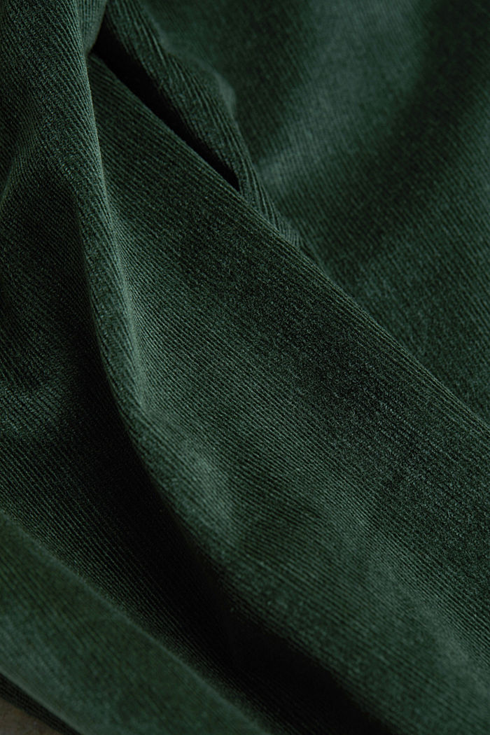 Stretch corduroy trousers, DARK GREEN, detail image number 4