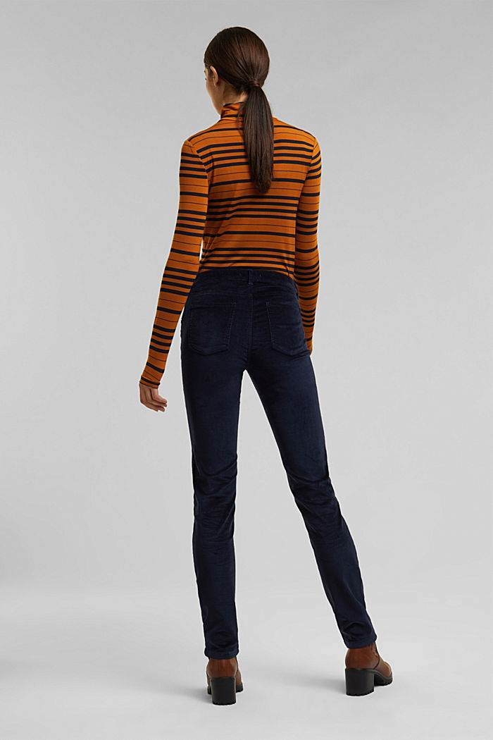 Stretch corduroy trousers, NAVY, detail image number 3