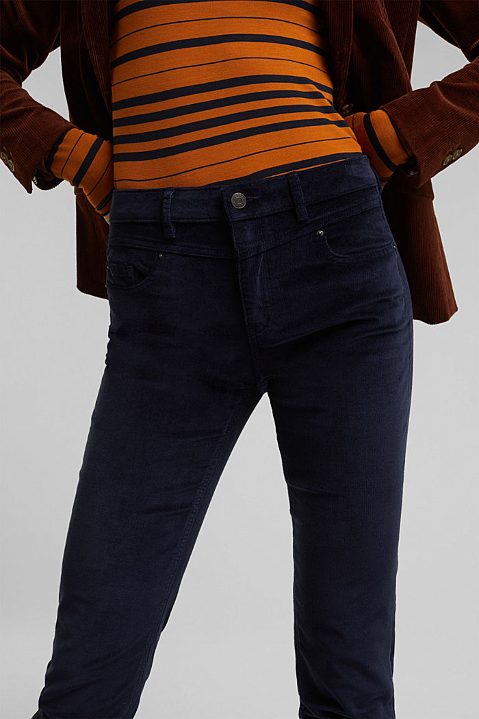 Stretch corduroy trousers, NAVY, detail image number 2