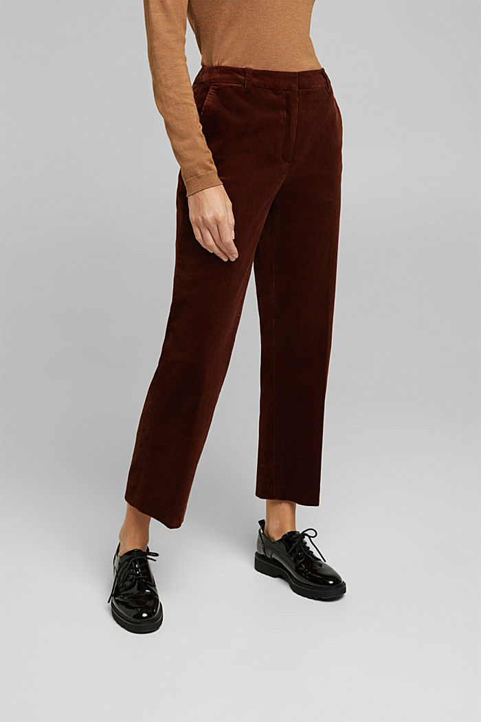 WIDE CORD Mix + Match corduroy trousers, BROWN, detail image number 0