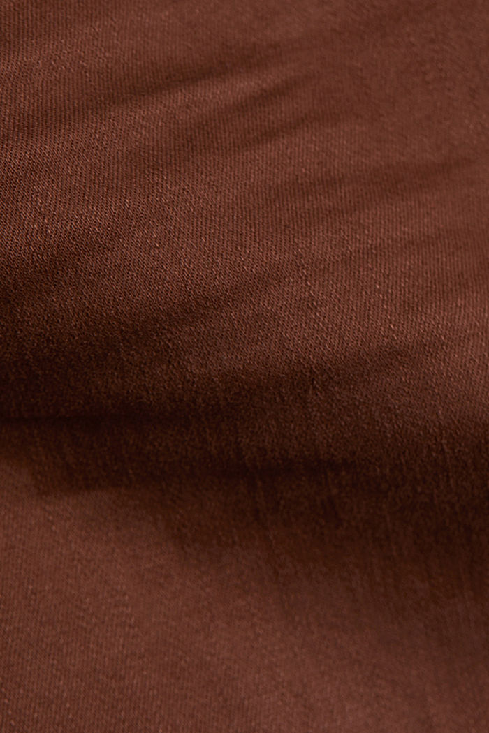 Skinny trousers with a shaping effect, BROWN, detail image number 4