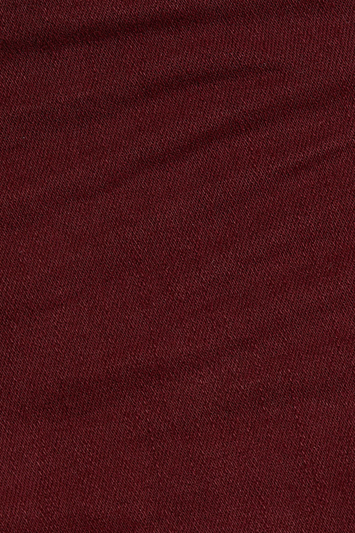 Skinny trousers with a shaping effect, BORDEAUX RED, detail image number 4