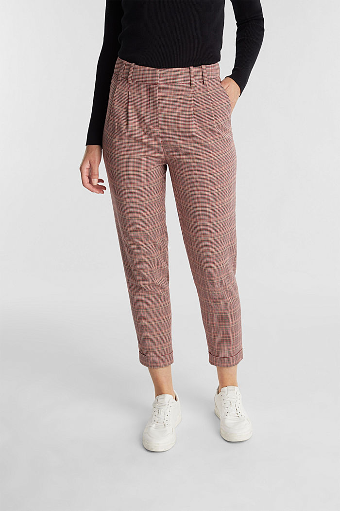 HOUNDSTOOTH Mix + Match trousers, BORDEAUX RED, detail image number 0