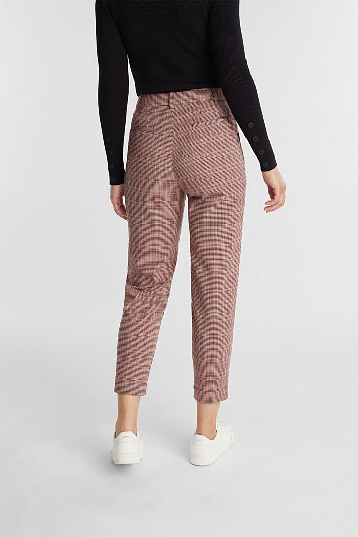 HOUNDSTOOTH Mix + Match trousers, BORDEAUX RED, detail image number 3