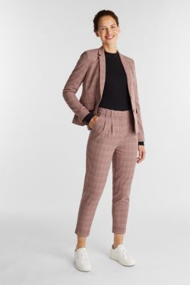 HOUNDSTOOTH Mix + Match trousers, BORDEAUX RED, detail
