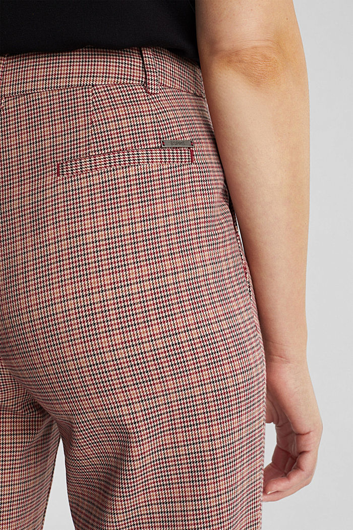 HOUNDSTOOTH Mix + Match trousers, BORDEAUX RED, detail image number 2
