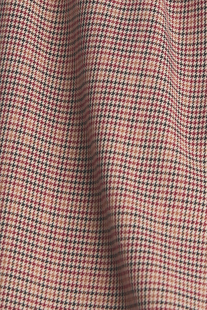 HOUNDSTOOTH Mix + Match trousers, BORDEAUX RED, detail image number 4