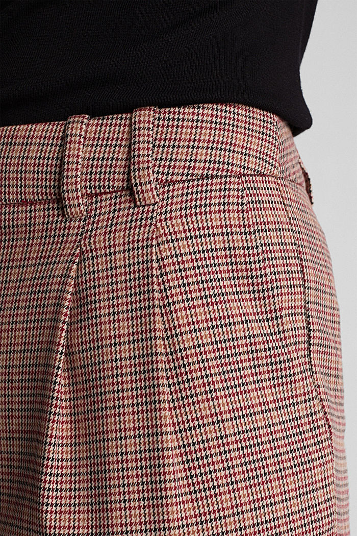 HOUNDSTOOTH Mix + Match trousers, BORDEAUX RED, detail image number 5