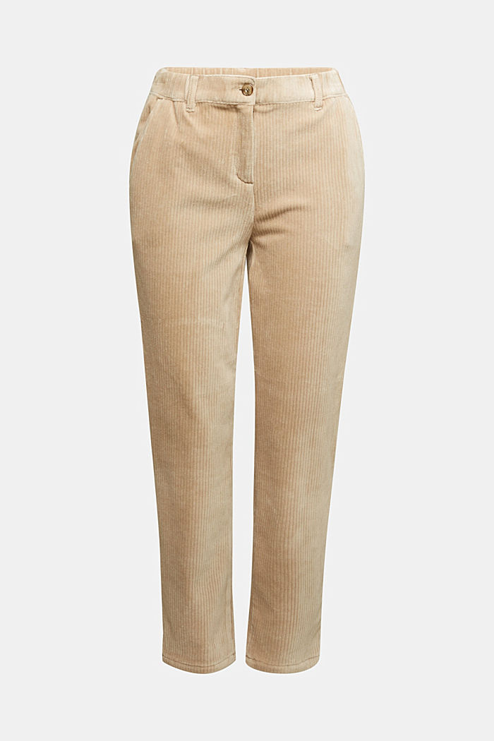 Corduroy trousers made from blended cotton