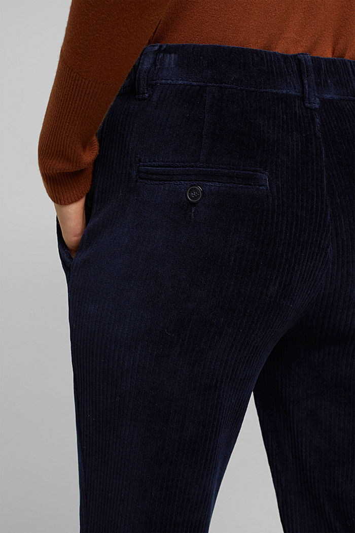 Corduroy trousers made from blended cotton, NAVY, detail image number 5