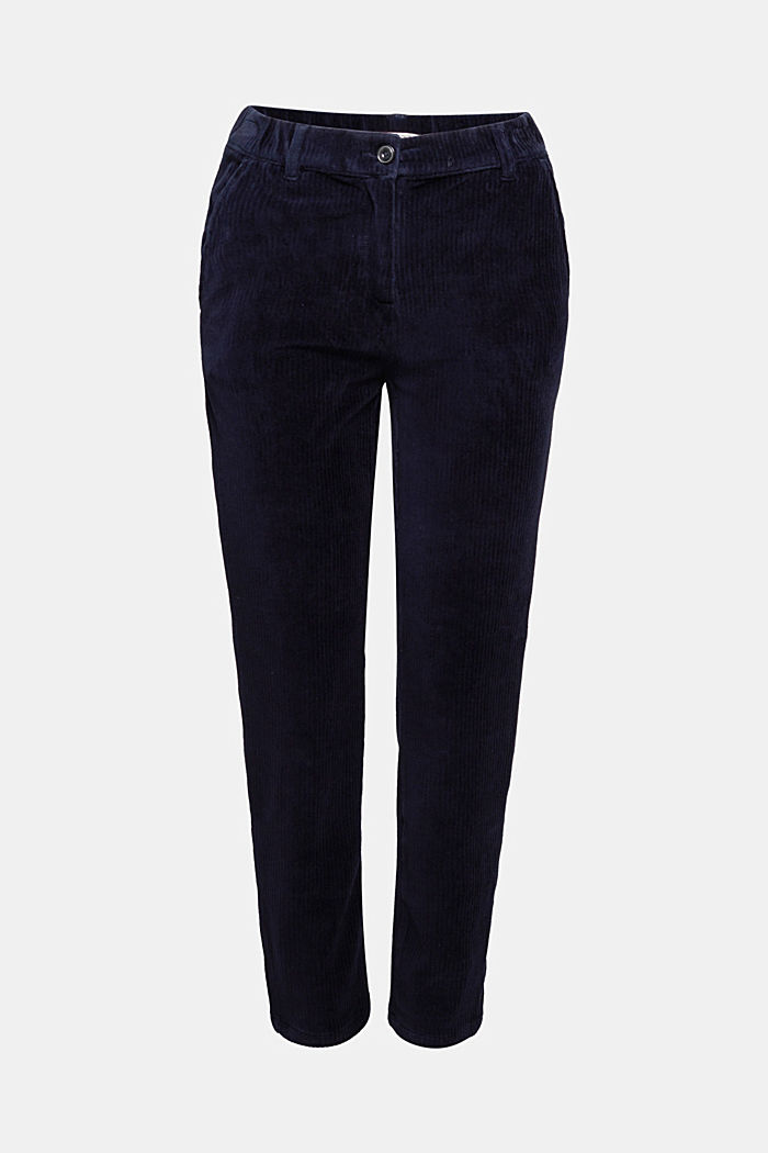 Corduroy trousers made from blended cotton, NAVY, detail image number 6