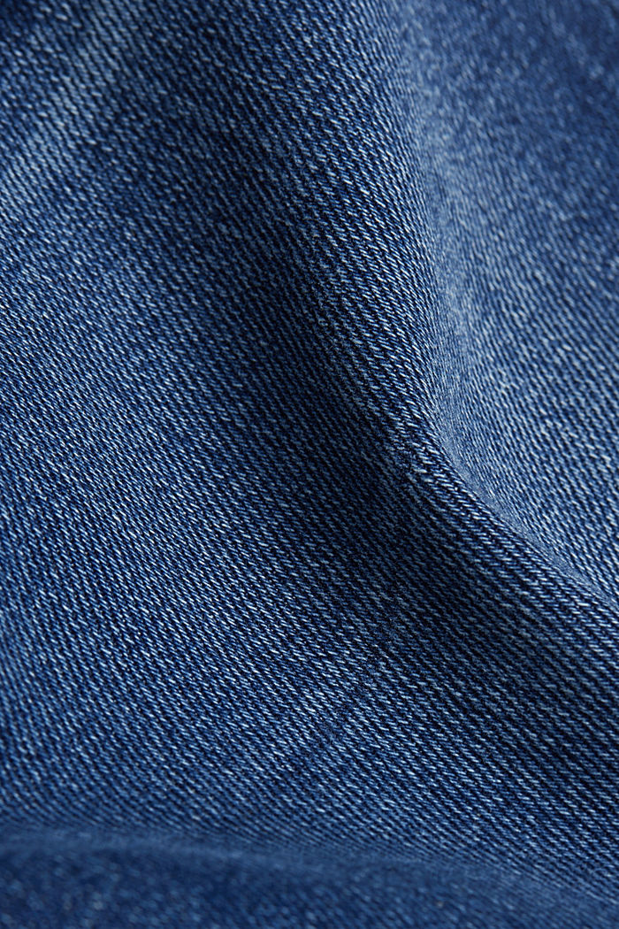 Skinny jeans with added stretch for comfort, BLUE DARK WASHED, detail image number 4