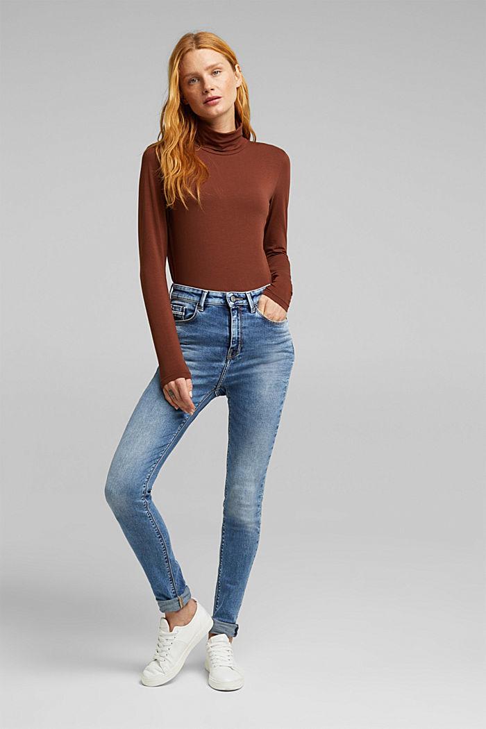 Skinny Jeans mit Stretchkomfort, BLUE LIGHT WASHED, detail image number 1