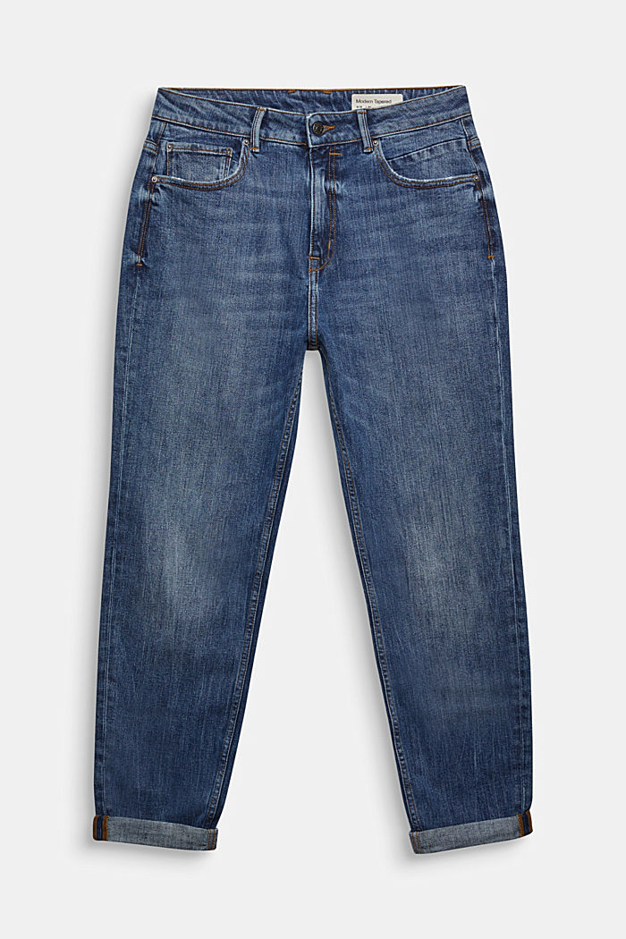 Jeans with organic cotton, BLUE MEDIUM WASHED, detail image number 0