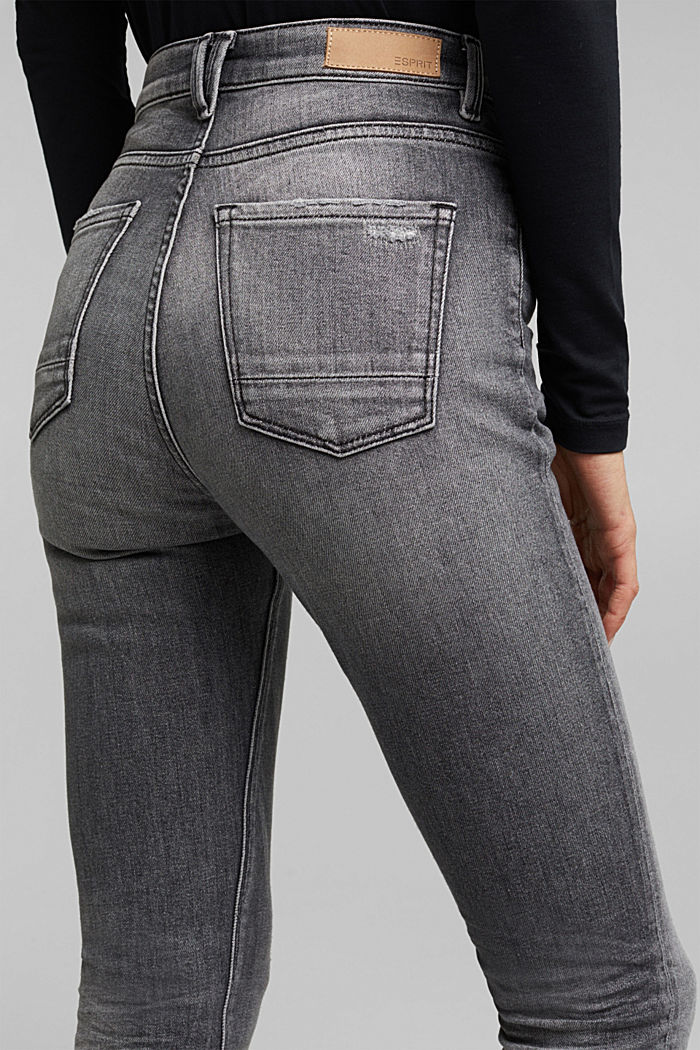 Skinny jeans with added stretch for comfort, GREY MEDIUM WASHED, detail image number 2