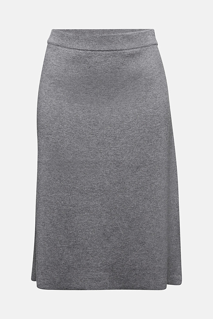 Knitted skirt with organic cotton and stretch