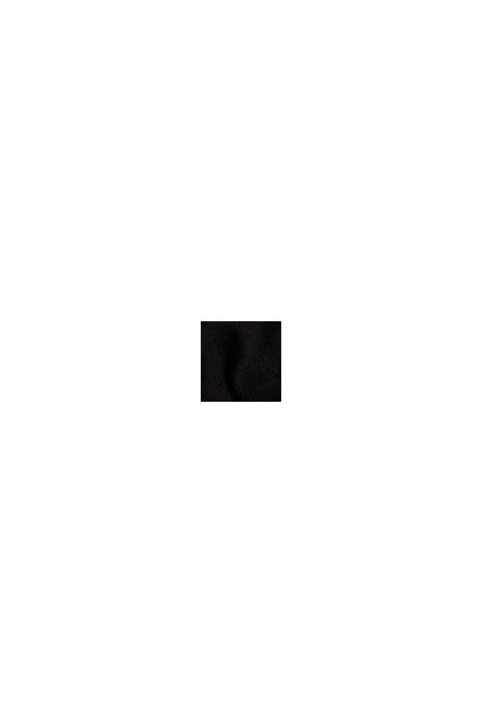 Kokerrok van jersey in een wollen look, BLACK, swatch