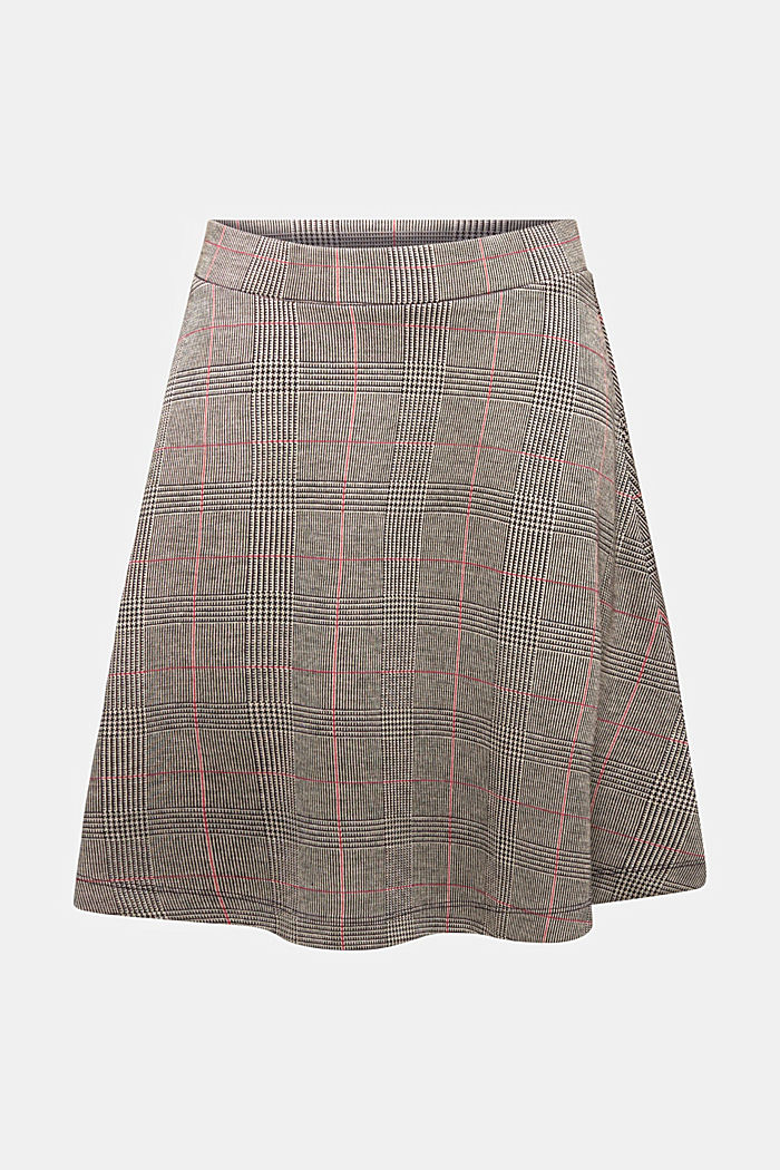 Jersey skirt with a Prince of Wales check pattern, RED, detail image number 5