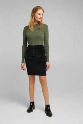Corduroy mini skirt, BLACK, detail