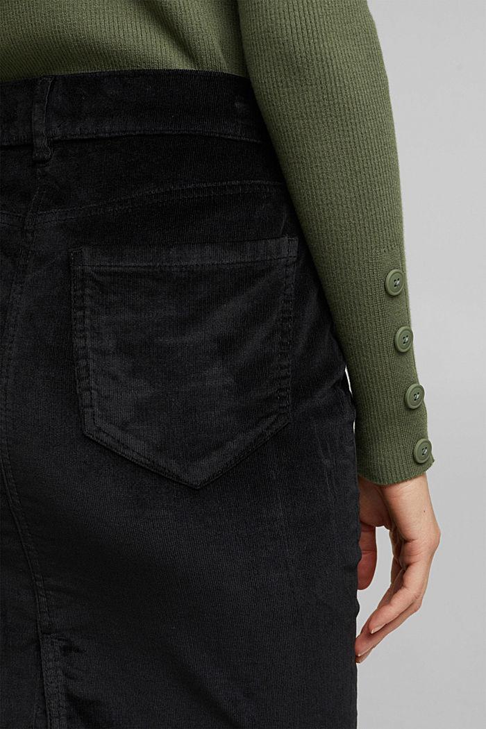 Corduroy mini skirt, BLACK, detail image number 5