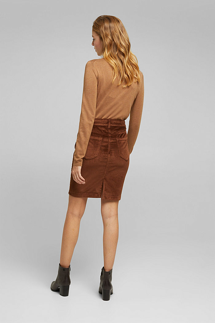 Corduroy mini skirt, BROWN, detail image number 3