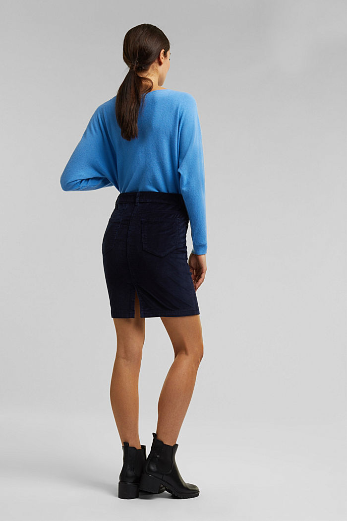 Corduroy mini skirt, NAVY, detail image number 3