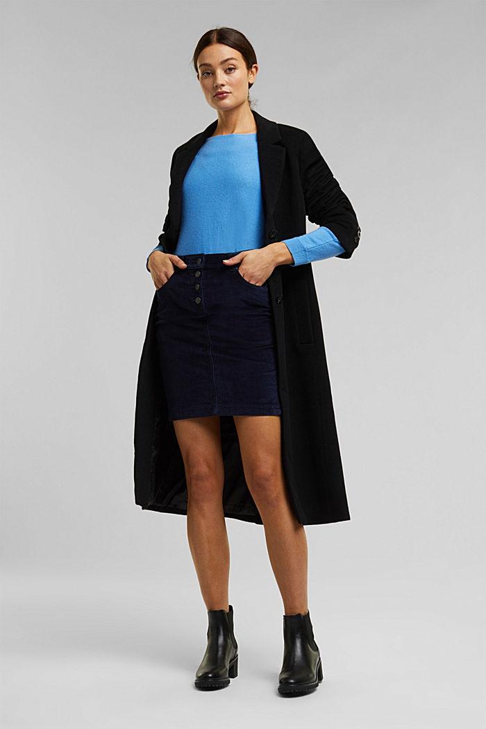 Corduroy mini skirt, NAVY, detail image number 1