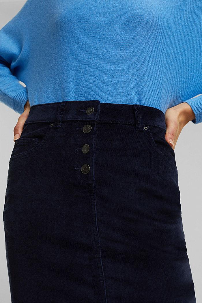Corduroy mini skirt, NAVY, detail image number 2