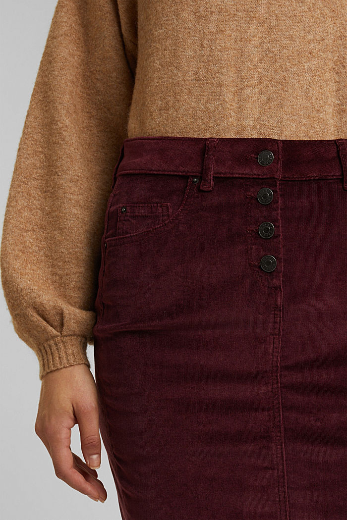 Corduroy mini skirt, BORDEAUX RED, detail image number 2
