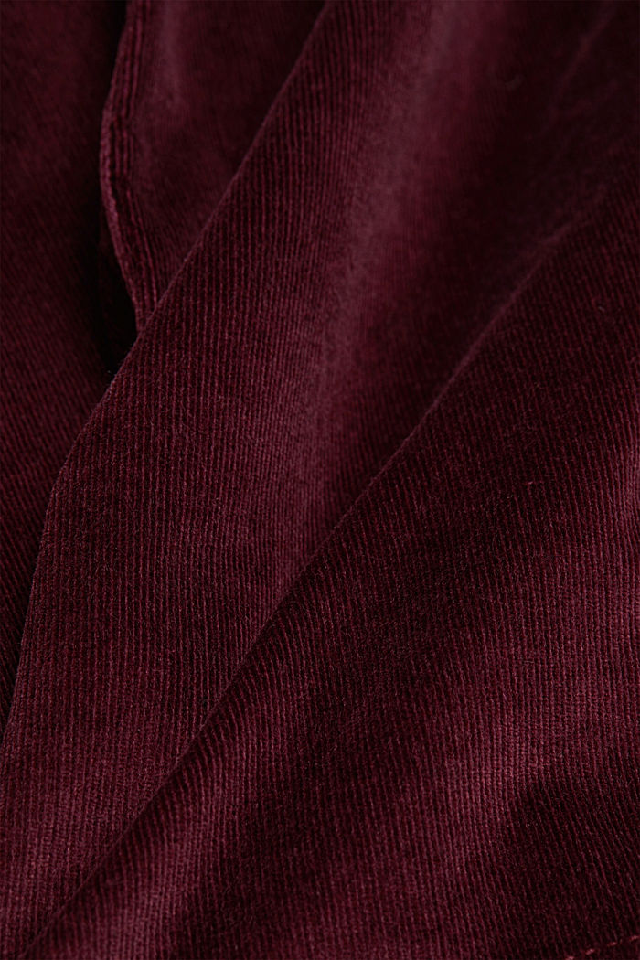 Corduroy mini skirt, BORDEAUX RED, detail image number 4