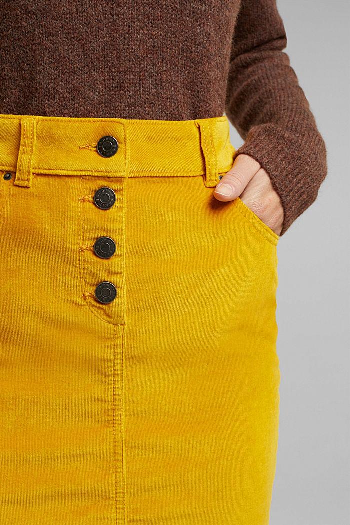 Corduroy mini skirt, BRASS YELLOW, detail image number 2