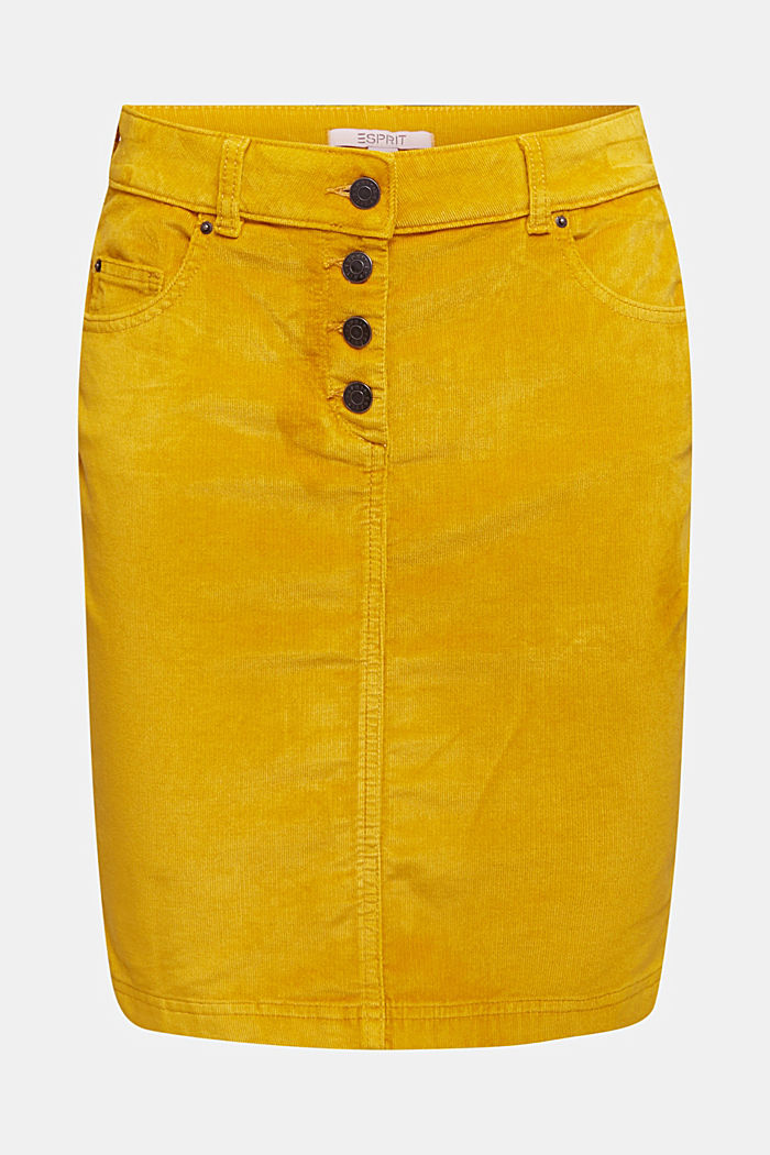 Corduroy mini skirt, BRASS YELLOW, detail image number 5
