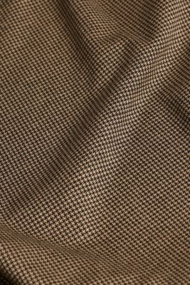 Jersey skirt with a houndstooth pattern, CAMEL, detail