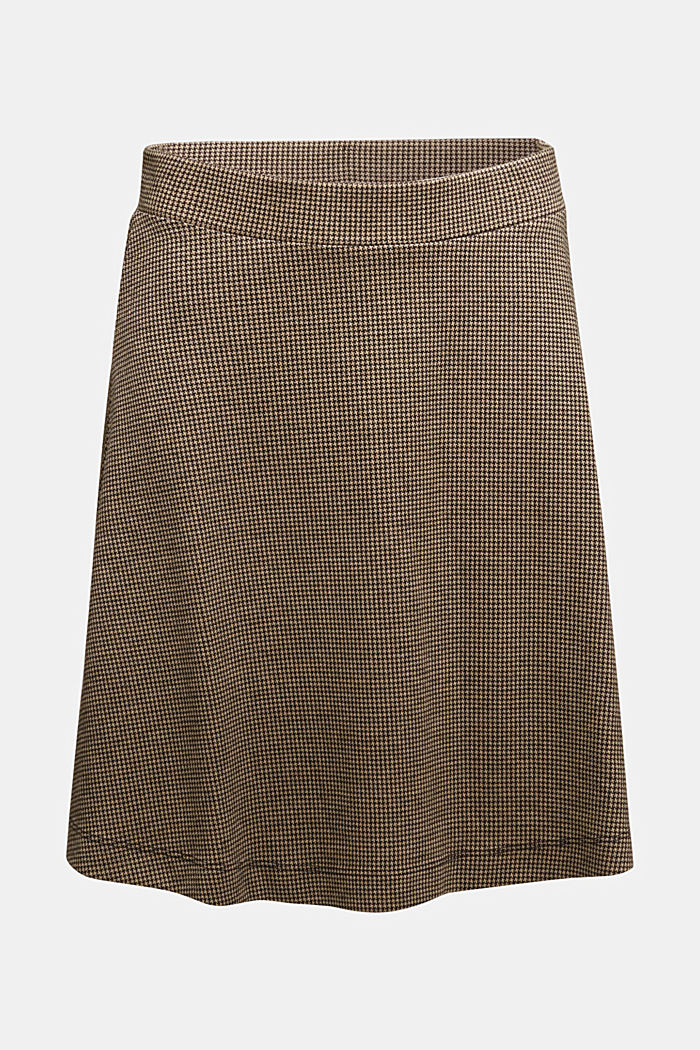 Jersey skirt with a houndstooth pattern, CAMEL, detail image number 5